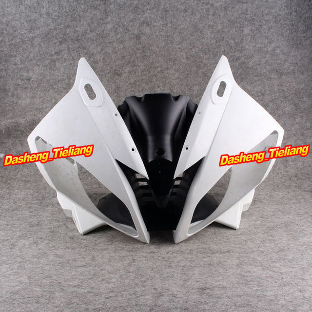 Upper Front Cover Cowl Nose Fairing for Yamaha 06 07 YZF R6 2006 2007, Injection Mold ABS Plastic, Unpainted