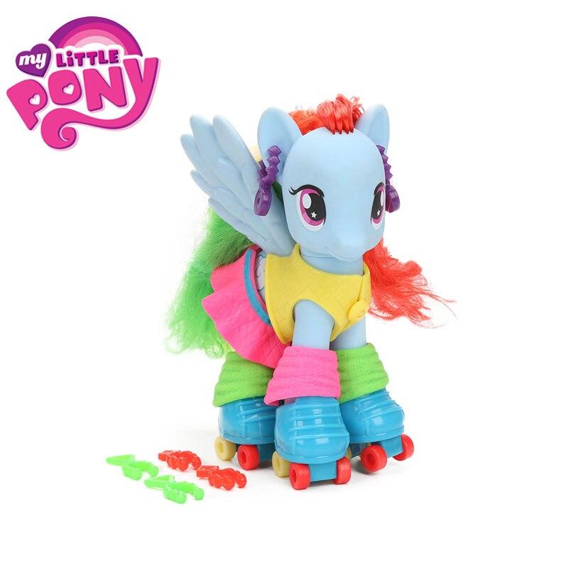 My Little Pony Toys Dress Up Fun Pinkie Pie Rainbow Dash Pvc Action Figures Fashion