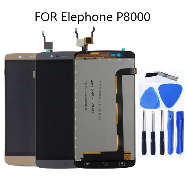 For Elephone P8000 Android 5.1 LCD touch screen original digitizer for Elephone P8000 LCD + free tools