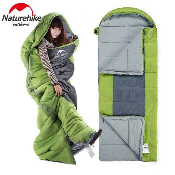 купить Naturehike Outdoor Camping Envelope Cotton Sleeping Bag Adult Heat Preservation Winter Single Sleeping Bag онлайн