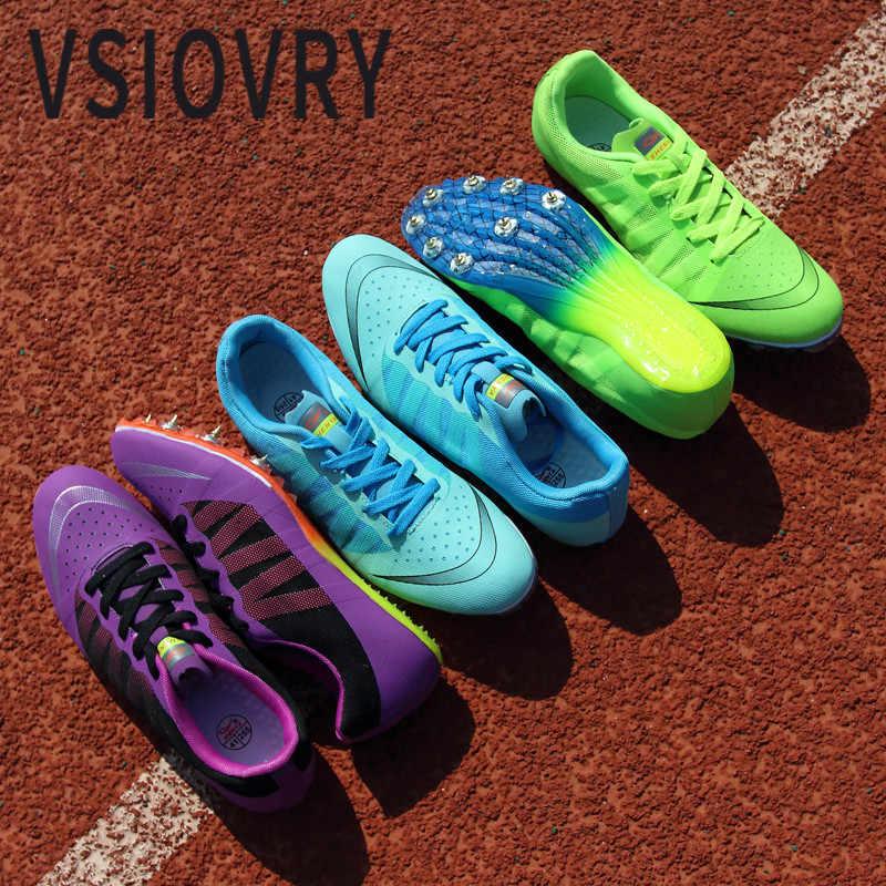 VSIOVRY новая спортивная обувь для мужчин унисекс, спортивная обувь с шипами для бега, кроссовки для женщин, уличная спортивная обувь