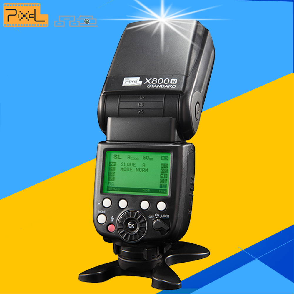 Pixel X800N Standard Wireless TTL 1/8000S HSS Flash Speedlite Speedlight for Nikon D7100 D7000 D5100 D5000 D600 DSLR Camera тумба лофт 3