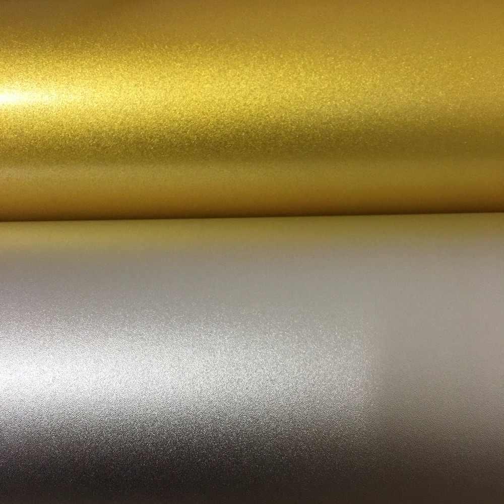 "12 ""* 30 m inkjet film emas/perak warna roll dengan diri perekat"