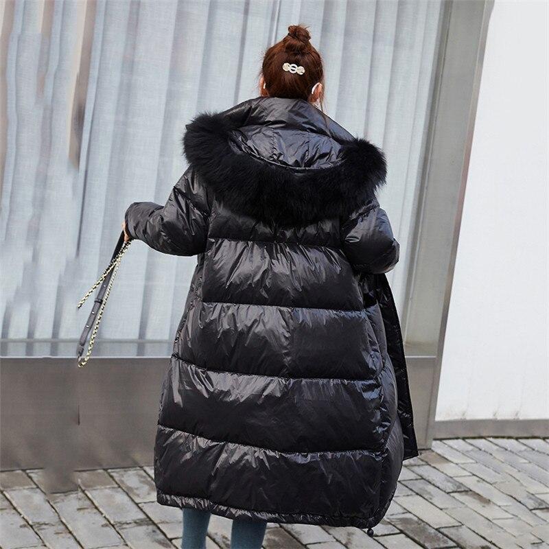 2019 Winter Women   Down     Coat   Fashion Hooded Warm Black   Down   Jacket Female Longer   Coat   Multi-size SA001