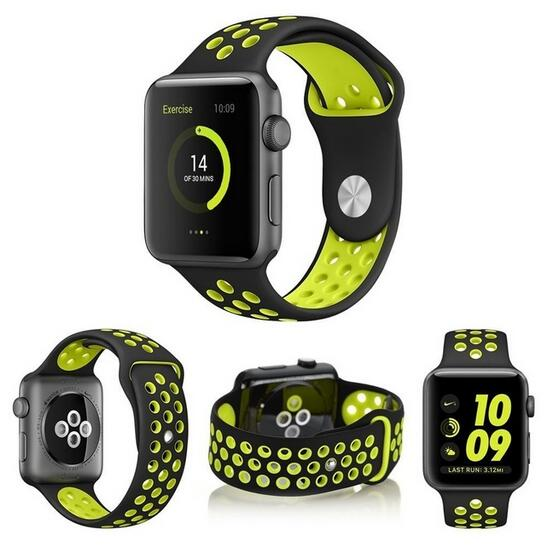 DHL 100pcs lot Sports band for iwatch 3 2 1 Silicone watch strap for apple watch