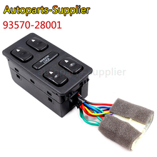 93570-28001 Front Left Driver Side Electric Power Master Window Switch for 1992 1993 1994 Hyundai Elantra Galloper