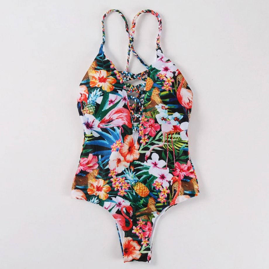 70a4c4119b HELLO BEACH 2018 New One Piece Swimsuit Women Bathing Suit Push Up Swimwear  Female Plavky Sexy