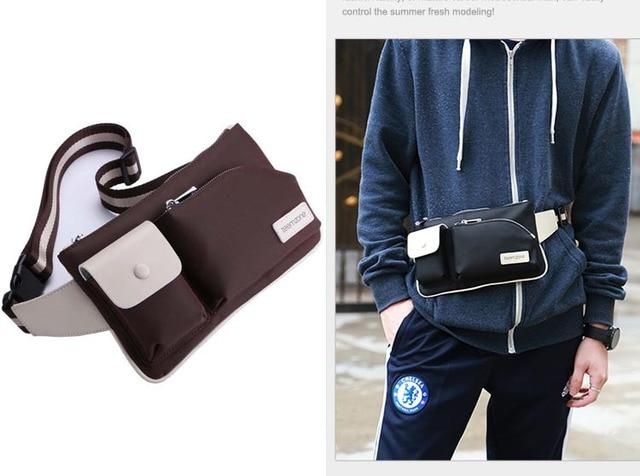 Teemzone casual para hombre para mujer y hombres unisex bolso de la cintura del paquete de fanny bolsa de mensajero en bicicleta paquete de hombro ajustable correa t0782