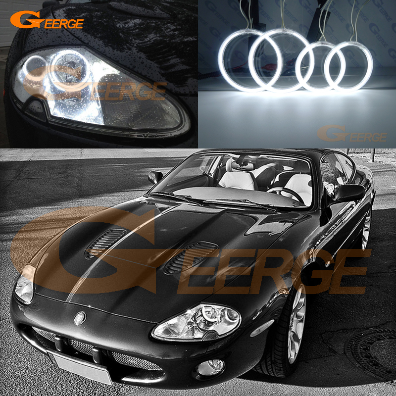 Для портфеля Jaguar XK8 и передовыми технологиями Х100 Сильверстоуне 1996-2006 отличное 4 шт Ультра-яркий освещения CCFL Ангел глаза комплект гало кольцо