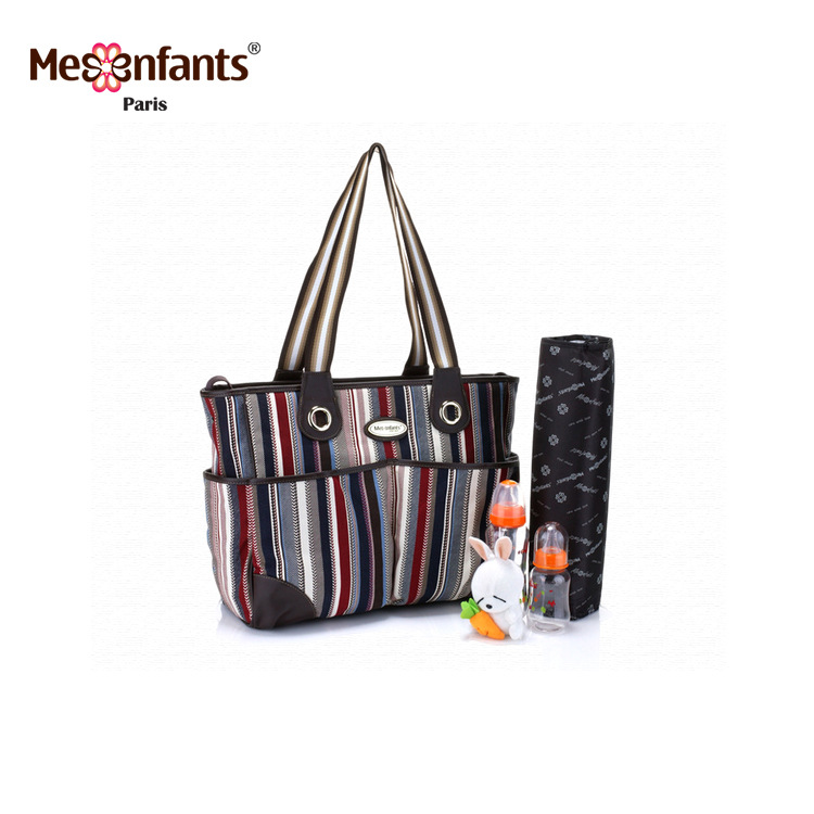 Mesenfants 2 PCS/set Stripe Baby Nappy Bags Large Capacity Multifunction Diaper Bag Mother Maternity Handbag Baby Stroller BagMesenfants 2 PCS/set Stripe Baby Nappy Bags Large Capacity Multifunction Diaper Bag Mother Maternity Handbag Baby Stroller Bag