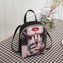 Hot Mini Women Backpack Printing Lipstick Women