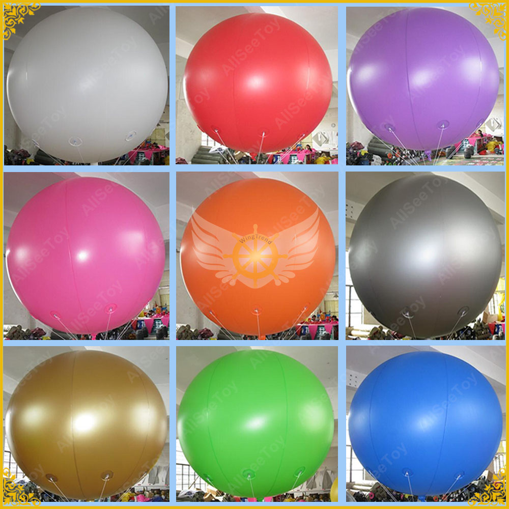 Giant Inflatable balloon,2m Big Advertising Helium Ball,PVC Material Huge Sky Sphere