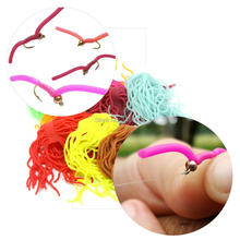 SAMS Fishing Lures Fly Tying Materials Squirmy Wormy Soft Worm Body Fly Flies Trout Flies Artificial Silicone Maggot Grub Baits