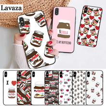 Lavaza food Chocolate Nutella Silicone Case for iPhone 5 5S 6 6S Plus 7 8 X XS Max XR
