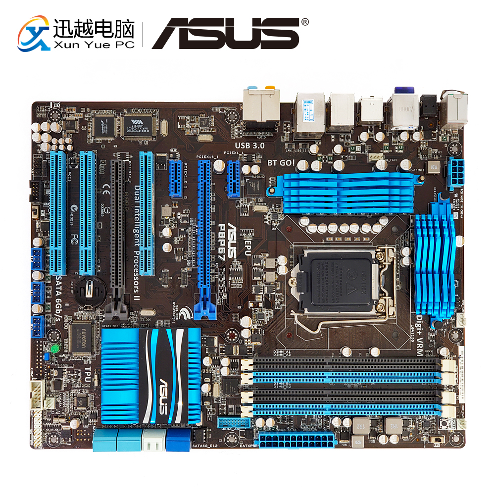 Asus P8P67 Desktop Motherboard P67 Socket LGA 1155 i3 i5 i7 DDR3 32G SATA3 USB3.0 ATX asus p8p67 m desktop motherboard p67 socket lga 1155 i3 i5 i7 ddr3 32g sata3 usb3 0 uatx