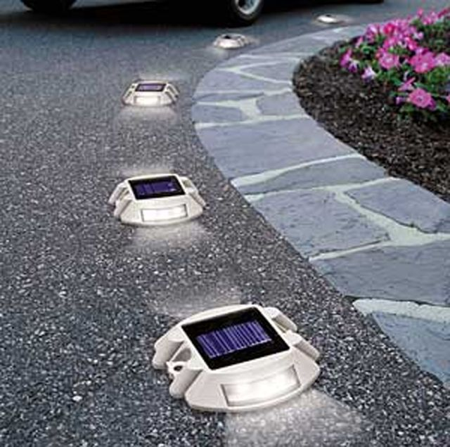 Solar 6 Led Outdoor Garden Road Driveway Pathway Dock Path Security Lights