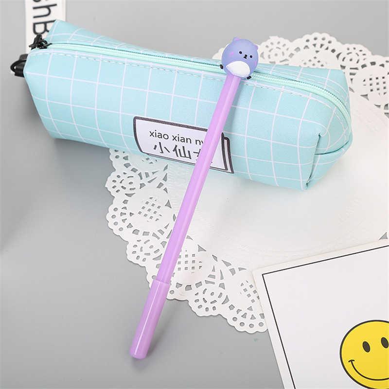 1 stücke Nette Kawaii Schwarz Tinte Bär Gel Stift 0,5mm Cartoon Kunststoff Gel Stifte zum Schreiben Büro Schule Liefert schreibwaren