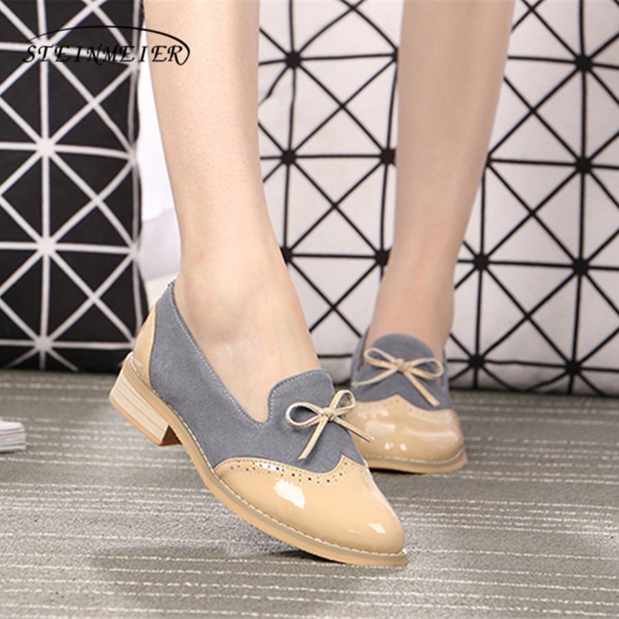 Для женщин из натуральной кожи на плоской подошве туфли-оксфорды дизайнерские винтажные ручной работы розовый черный бант Туфли-оксфорды д...