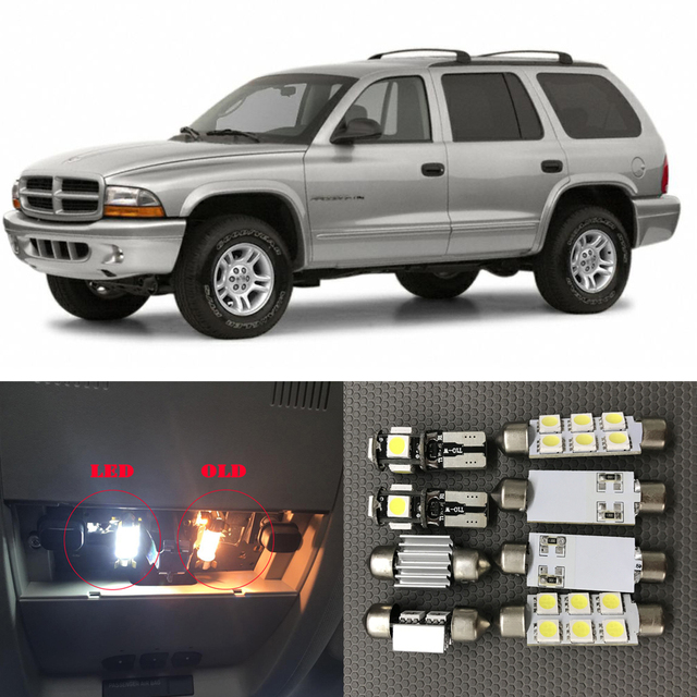 9pcs No Error Car Led Light Bulbs Interior Package Kit For 1998 1999 2000 2003 Dodge Durango Canbus Map Dome License Plate Lamp