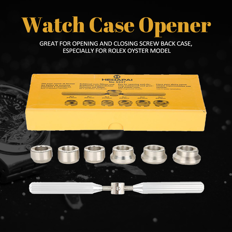 Watch Back Case Cover Opener Remover Wrench Dies Repairer Tool Set for Rolex Oyster цена и фото