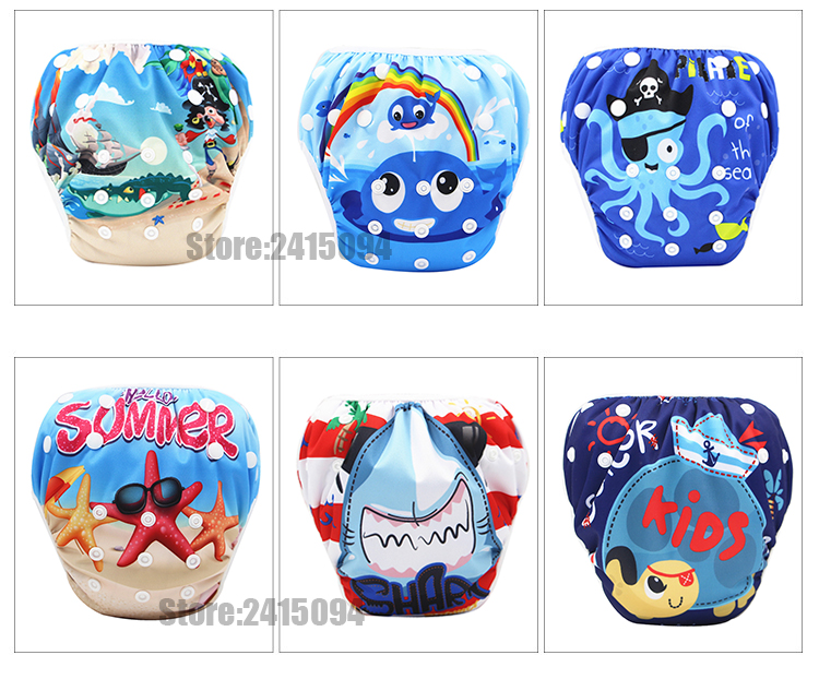 Baby Swim Diaper For Baby Swimming Reusable Swimming Diapers Baby Nappies Washable Pool Pant Baby Cloth Diaper Nappy