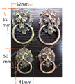 Antique Brass Ring Handles Vintage Bronze Metal Lion Head Knob Furniture Door Cabinet Dresser Drawer Pull