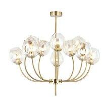 Modern Clear Glass Chandelier Living Room Kitchen Bedroom Minimalist Bronze Color Hanging Chandeliers Lighting lustre