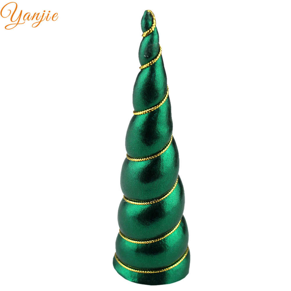 5 ピース/ロット 2019 クリスマスユニコーンのためのホーンクリスマスユニコーンヘッドバンド毛の弓女性のための Diy のヘア Accessoires