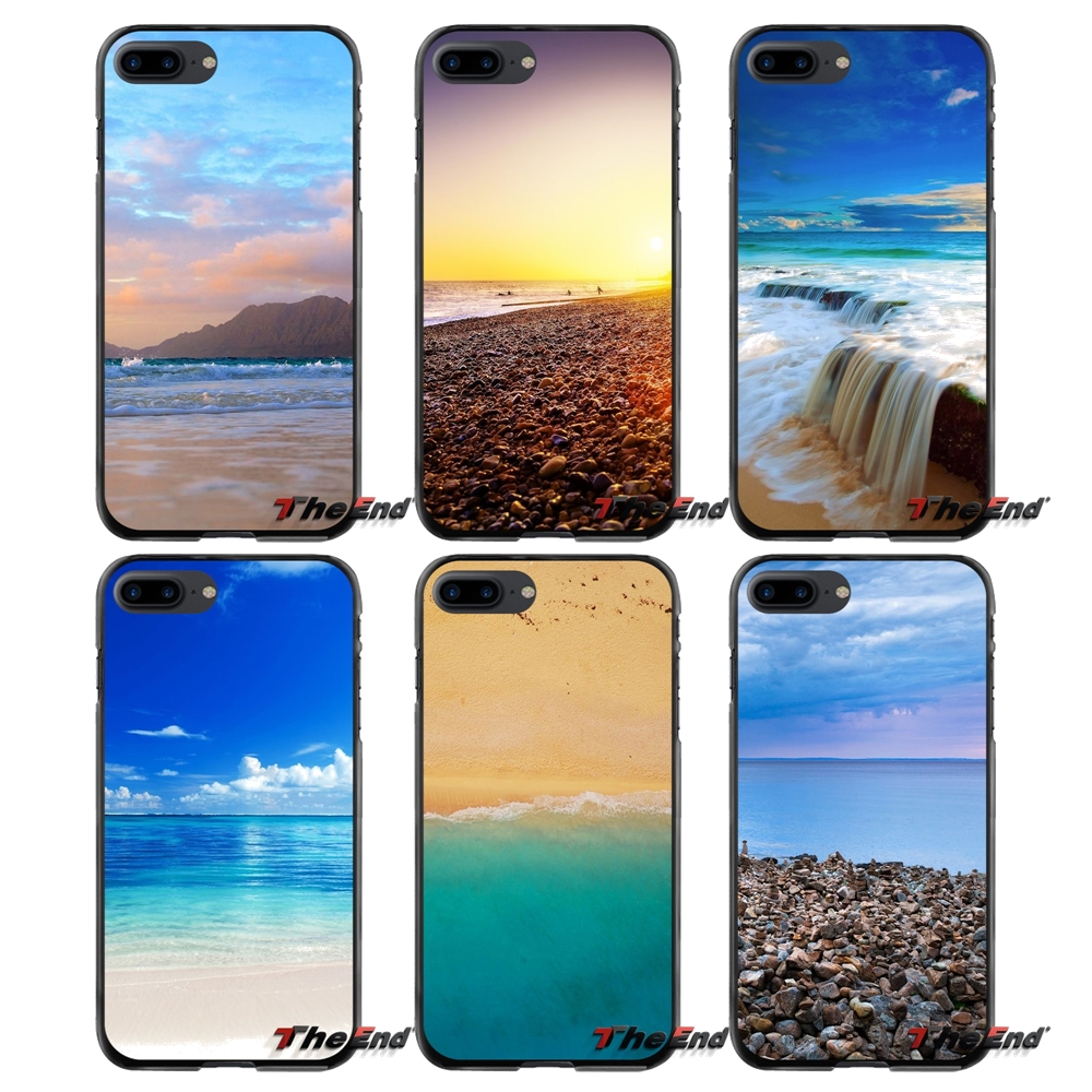 Accessories Phone Shell Covers For Apple iPhone 4 4S 5 5S 5C SE 6 6S 7 8 Plus X iPod Touch 4 5 6 Love Beach