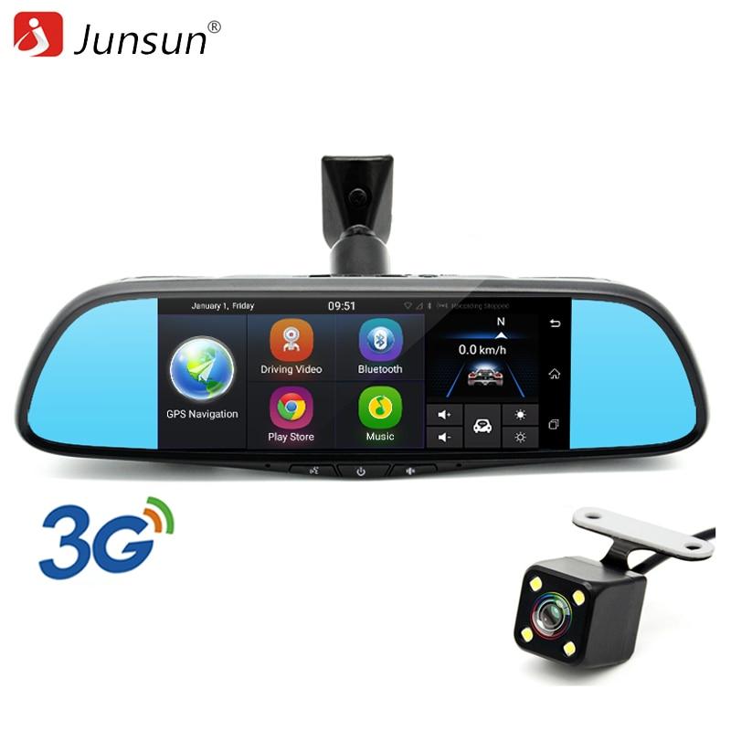 Junsun 3G Special Car DVR Mirror 7 Android GPS Navigation Bluetooth WIFI FHD 1080P Video Recorder