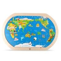 En bois Carte Du Monde Puzzle Enfants Jouet Bande Dessinée Adulte Puzzle En Bois Jeu Brinquedos Educativo Puzzles Pour Enfants 60P0031