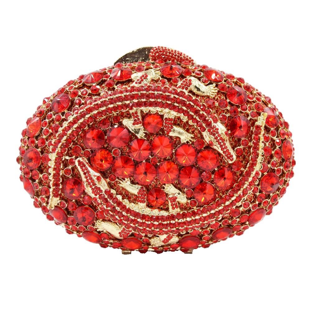 Fashion Red Party Purse Animal Design Evening Bag deluxe Clutch Bag Crystal soiree Day ClutchesFashion Red Party Purse Animal Design Evening Bag deluxe Clutch Bag Crystal soiree Day Clutches