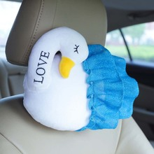 2017 New Coming 1Pc 22x28Cm Cute Swan Plush Toys Car pillow neck Cushion Swan cloth doll