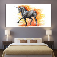 1 Piece Posters Wall Painting Art Home Decor Modern Fine Horse Fairy Tale HD Print Painting Modular Pictures Canvas