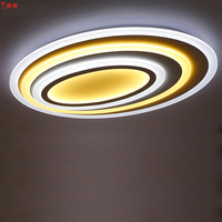 Oval Acrylic LED Ceiling Light Modern Living room Kids Room Ceiling Lamps Bedroom Lamparas Lighting for Home Indoor Decoration