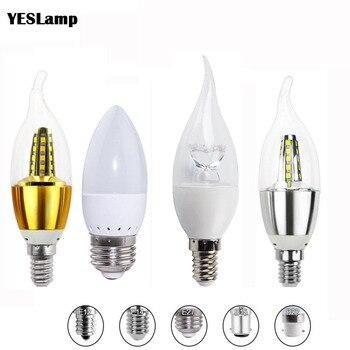 E14 led vela lâmpada e27 lâmpada de poupança energia 3 w 5 7 8 holofotes bombilla lampara lustre para decoração casa e12 b22 b15