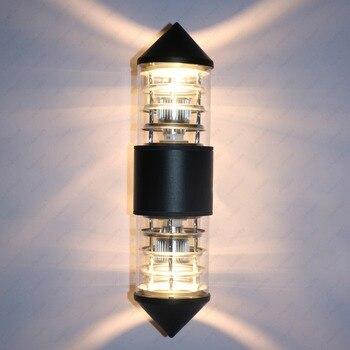 up down 6w 10w led cob wall fixture light outdoor indoor lamp waterproof ip65 bedroom balcony 6W/10W/14W LED Outdoor Up/Down Wall Sconces Light Garden Gate Balcony Waterproof Lamp Fixture E27 Bulb Globe included