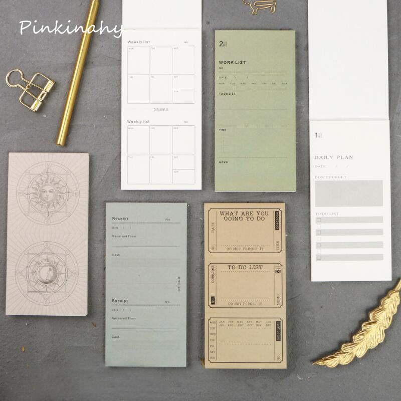 Office & School Supplies New Desk Weekly Daily Planner Cartoon Sticky Notes Stickers Paper Korean Stationery To Do List Office Supplies