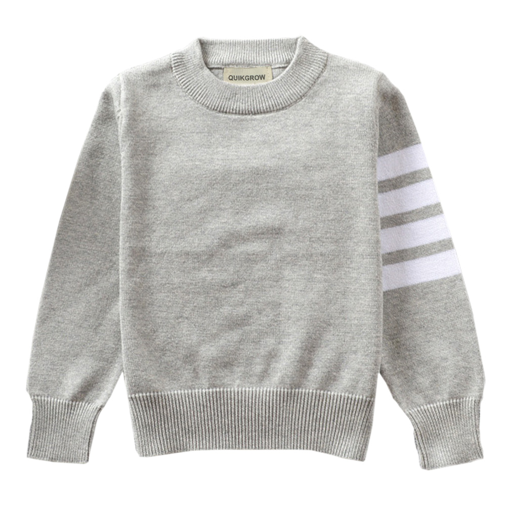 QUIKGROW-Excellent-Cotton-Neutral-Infant-Girl-Sweater-Baby-Boy-Pullover-BlackGreyRed-Long-Sleeve-Knitwear-Tops-YM23MY-1
