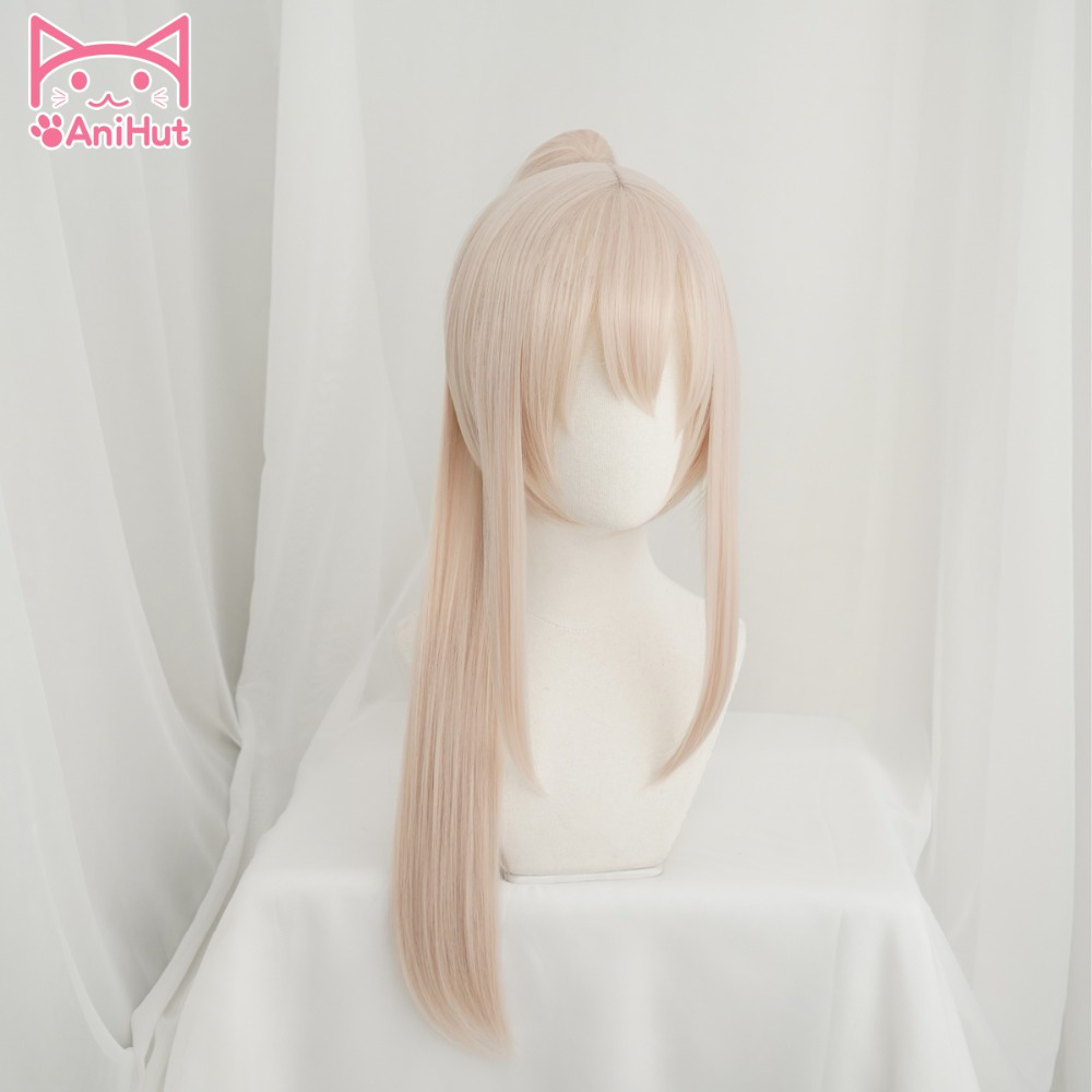 Anihut Ayanami Cosplay Wig Game Azur Lane Women Heat Resistant Synthetic Milky White Cosplay Wig Ayanami