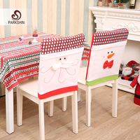 Parkshin Christmas Snowman Chair Covers Christmas Decorations Xmas Dinner Party Seat Caps Supplies For Home