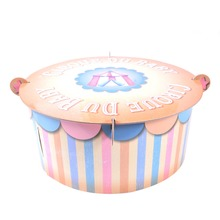 Pink Blue Cirque Du Baby Cake Tray 1st Birthday Shower Cupcake Stand Table Centerpiece Cartoon Tent Carnival Party Supplies цена и фото