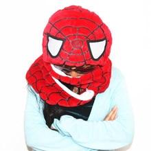 SPIDER MAN Cosplay Kigurumi Winter Warm Plush Hat Combine Cap Scarf and Glove
