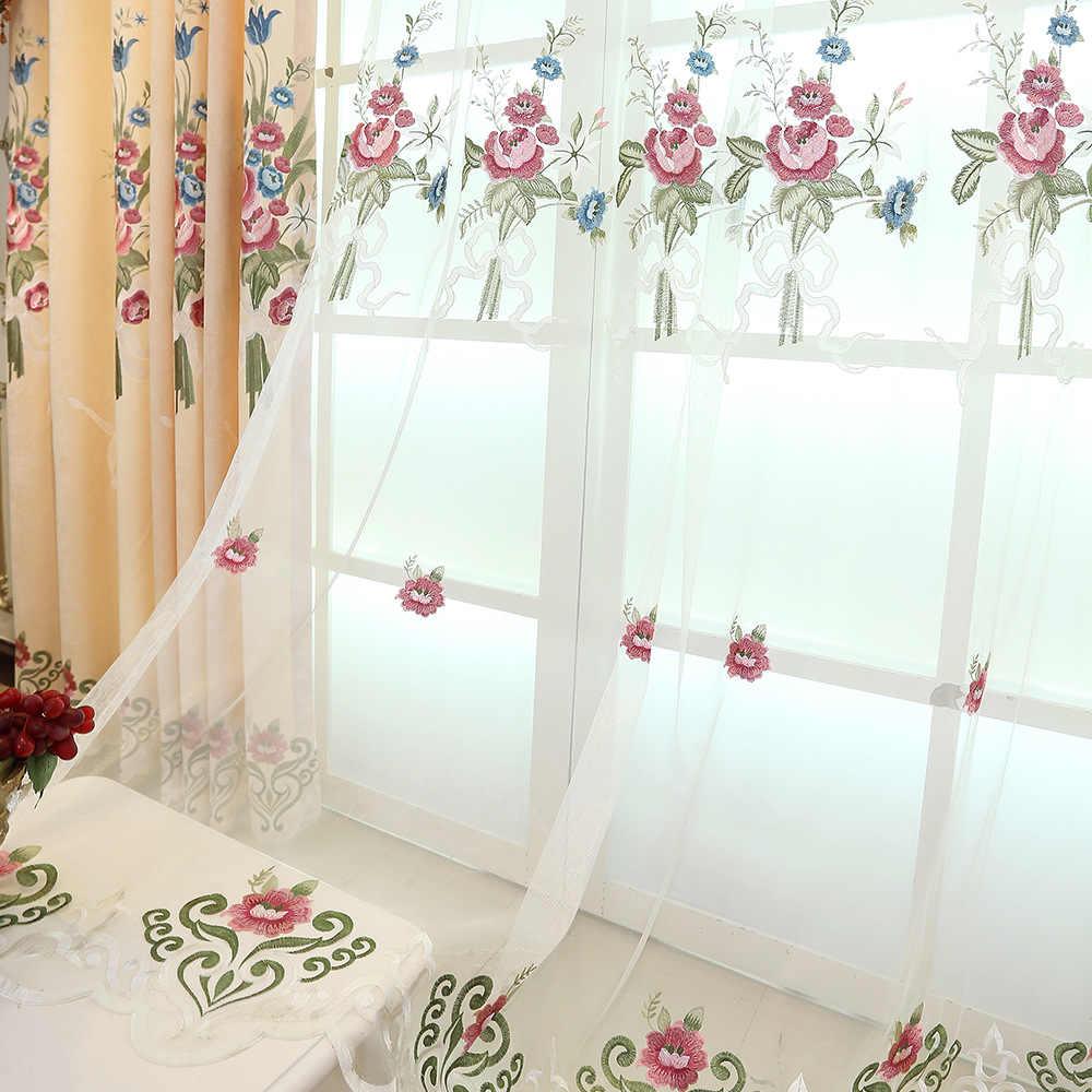 Желтый пион, высокое качество, вышитые затемненные занавески на окно для гостиной, спальни, кухни, тюль, занавески, занавески