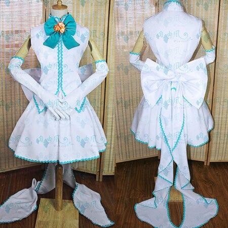 Cartes Captors Sakura Sakura Kinomoto Illustration Costume Cosplay tenue robe de soirée + coiffure + gants sur mesure