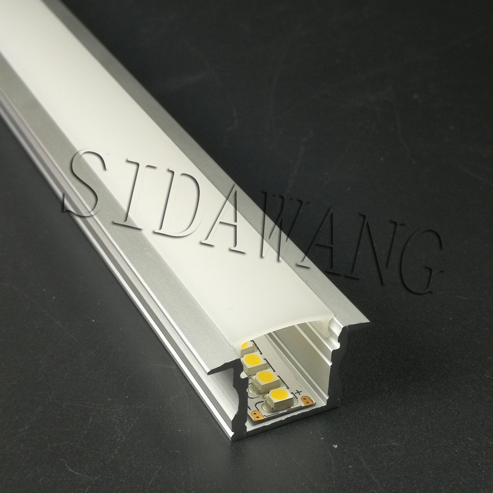 5 10pcs x 2m Deep Recessed mounting surfaced mounting Profile with Flange Aluminum Led Profile with