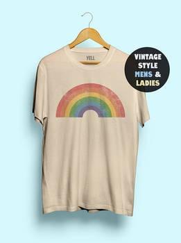 Camisa de arco iris Estilo Vintage para mujeres, camiseta divertida y bonita, camiseta Gay AF, camisa LGBT, camiseta lésbica para hombres 70s Pride 1970s