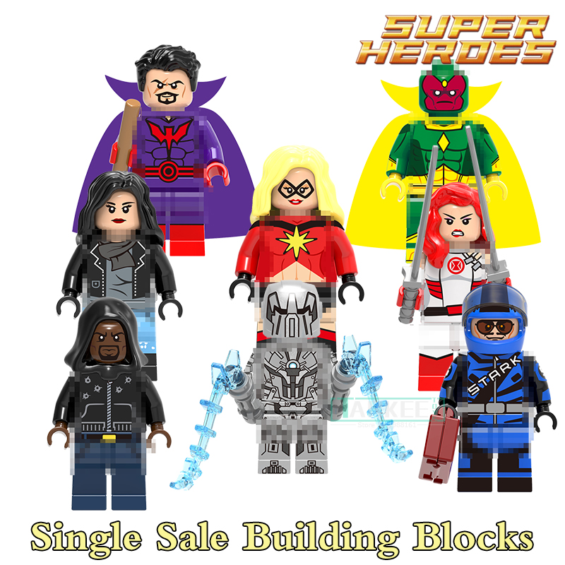 X0173 Red Widow Luke Cage Iron Man Vision Whiplash Jessica Jones Ms. Marvel Super Heroes Building Blocks Kits Brick Kids Toys berkley whiplash pro в америке