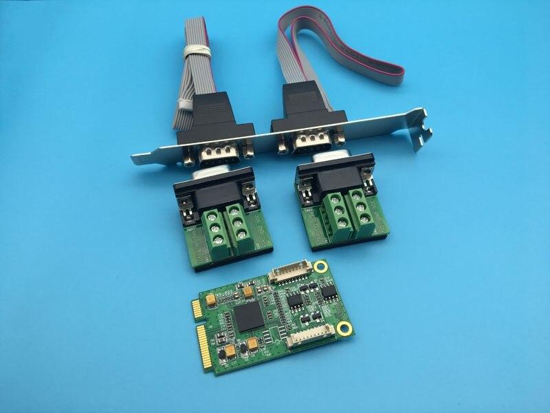 Pci-express para Porta Controlador da Placa de Expansão de Série Mini Industrial Db9 Pino Adaptador Pcie 2 Rs422 Rs485