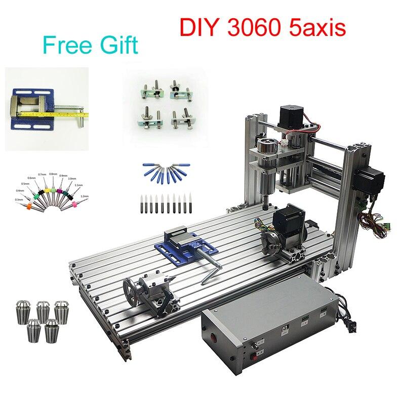 5 axes CNC fraiseuse bricolage CNC machine de gravure Mini CNC routeur 300*600mm zone de travail